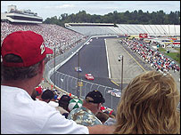 Audience watches Nascar race