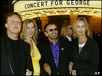 Sir Paul and Ringo Starr were joined by wives Heather Mills and Barbara Bach