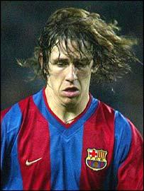 Barcelona's Spanish international defender Carles Puyol