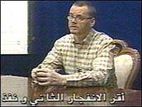 Sandy Mitchell shown on Saudi television confessing to a car bombing