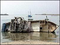 Wreck of migrants' boat