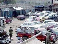 Vehicles await repair in Shoba bazaar
