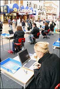 Intel sponsored wi-fi event in London