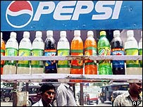 Soft drinks stall in Delhi