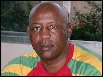 Outgoing coach Asrat Haile