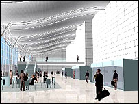 Impression of new terminal building