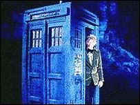 Jon Pertwee and Tardis