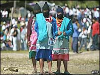 Zapatista women at the event