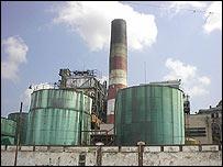 Antigua refinería cubana.