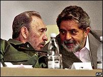 Fidel Castro y Lula da Silva.
