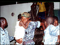 Benin port officials rescue suspected child slaves from a ship (archive: 2001)