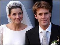 Clotilde Courau and Emanuele Filiberto
