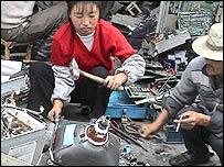 Computer waste (Photo: Silicon Valley Toxics Coalition)