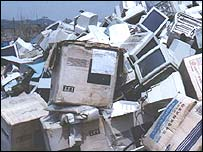 Computer waste (Photo: Silicon Valley Toxics Coalition)