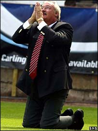 Jim Leishman thanks God for his return to Dunfermline