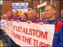 Alstom workers protest