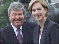 Keith Mills and Barbara Cassani