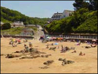 Beach on Jersey