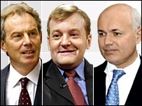Tony Blair, Charles Kennedy and Iain Duncan Smith