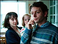 Elizabeth Berrington as Cherie Blair and Michael Sheen as Tony Blair