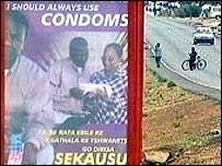 African Aids prevention poster