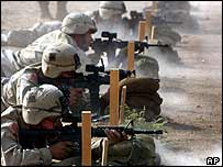 US troops in training in Iraq