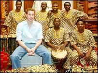 Prince William with African band