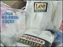 Socks packaging at NFK factory