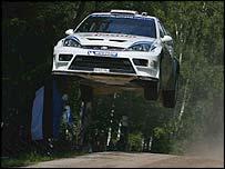 Markko Martin gets airborne in Finland