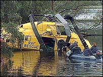 Helicopter crash in Llanberis