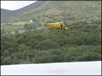 Helicopter crash in Llanberis