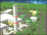 Computer animation of new power station