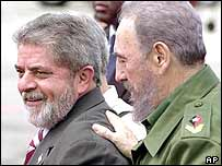Fidel Castro and President Lula