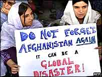 Afghans protest to demand that security extend beyond Kabul