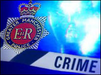 GMP logo with crime scene graphic