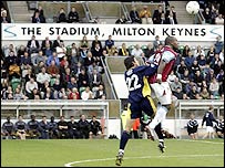 Wimbledon played their first game at Milton Keynes
