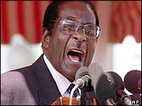 Zimbabwe's President Robert Mugabe 