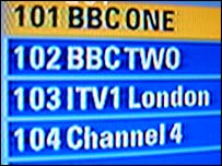 Sky digital electronic programme guide