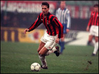 Marco van Basten in action for AC Milan