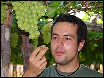 Paulo Cabral with grapes