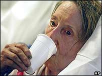 Woman in Paris hospital