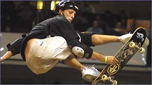 Tony Hawk in action on his skateboard (Shazamm/ESPN)