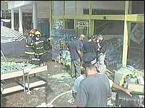 Scene of the blast at Rosh Haayin