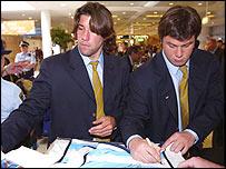 Argentina's Ignacio Corleto (left) and Martin Durand