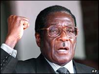 Zimbabwean president President Robert Mugabe