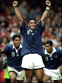 Samoa after defeating Wales in 1999