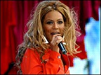 Cantante británica Beyonce Knowles