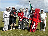 Remote controlled transatlantic plane team