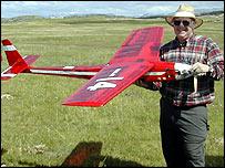 Remote controlled transatlantic plane