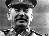 The former Soviet dictator, Josef Stalin